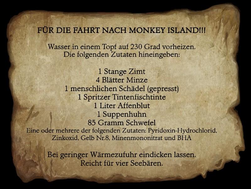 Monkey Island  Rezept